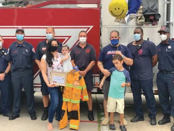 Hillside Fire Department makes child's day