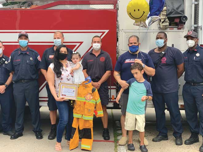 Hillside Fire Department makes child's day