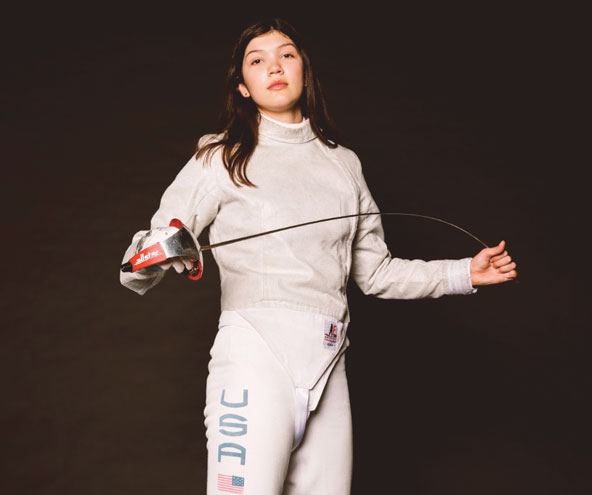 Globally ranked teenage fencing champ to compete in world championships in Egypt