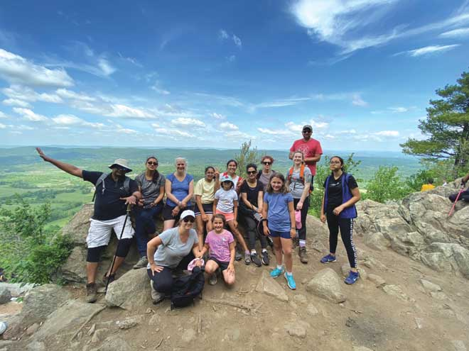 Clark Fit Hiking Club completes 'Stairway to Heaven'