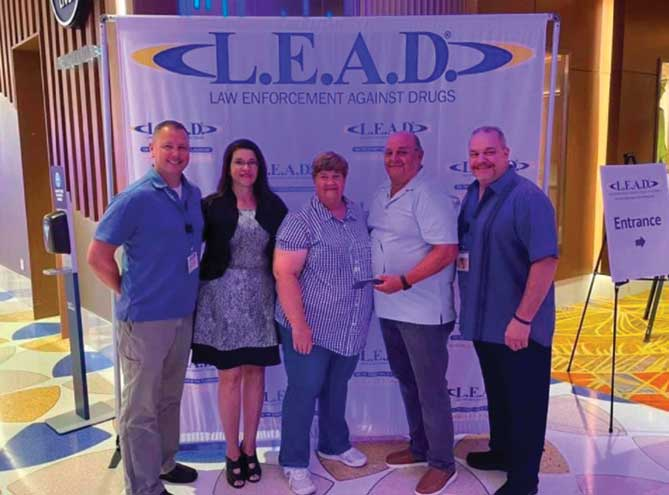 Retired police sergeant is awarded L.E.A.D. Lifetime Achievement Award