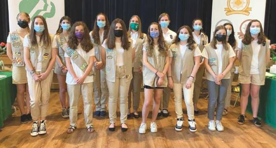 Girl Scouts of Cranford honors Silver Award recipients