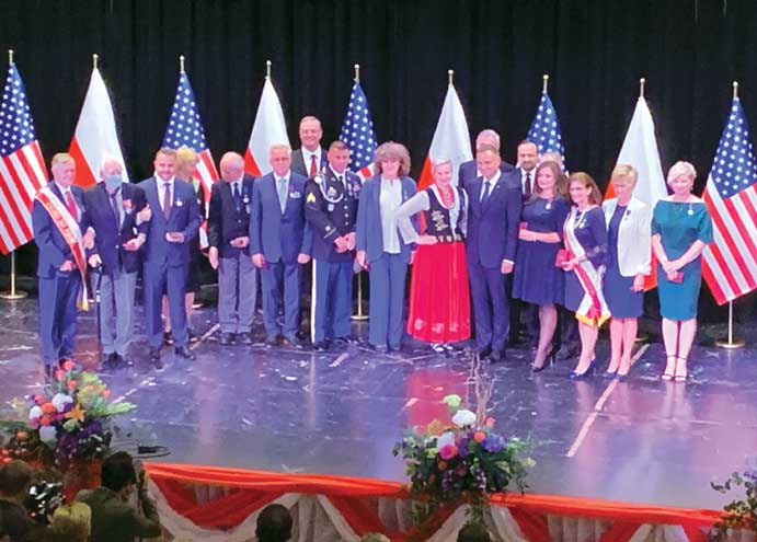 Poland's president and first lady visit Polish community in Linden