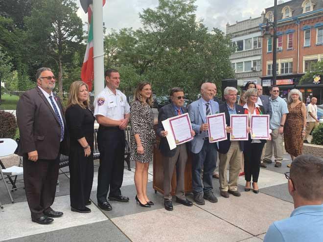 Union County celebrates Columbus Day with a flag raising