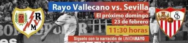 Cabecera Rayo Vallecano - Sevilla