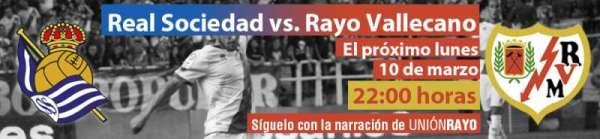 Cabecera Real Sociedad - Rayo Vallecano
