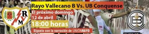 Cabecera Rayo Vallecano B - UB Conquense