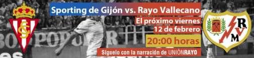 Cabecera sporting - Rayo Vallecano