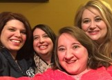 """Submitted by Jennifer King - """"Pic taken on March 21, 2015, 22 years after these 5 strangers met for first time in their assigned dorm room on freshman orientation day 1992. God led UU staff to group these 5 girls together, they became the best of friends, known as the """"Duncan Darlins"""" (named for their dorm, Duncan #1) and that friendship continues! Missing from this pic of the original Duncan Darlins is Karen Featherstone Davison (and Becky Jacobs Knight who was adopted by the """"Duncan Darlins"""" in 1994 when one of the Darlins was allowed to leave to get married.) Thankful how God used Union and it's staff to bless these friendships! Jada Jordan Seaton, Amy Sneed Ogg, Vadessa Mason Flack and Jennifer King."""""""