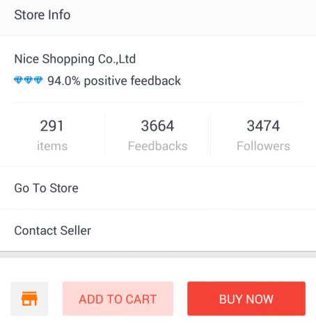 Hodnotenie predajcu nájdete na Aliexpress pri kliknutí na konkrétny produkt v dolnej časti. Foto: aplikácia Aliexpress