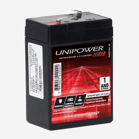 Bateria Estacionária 6V 4,5Ah UP645SEG