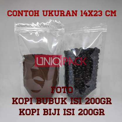 standing pouch transparan