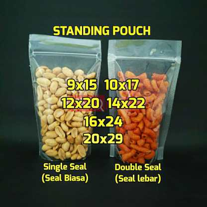 Standing Pouch Double Single Seal