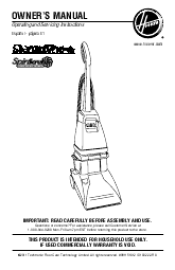 Hoover Steamvac Owners Manual F5914900