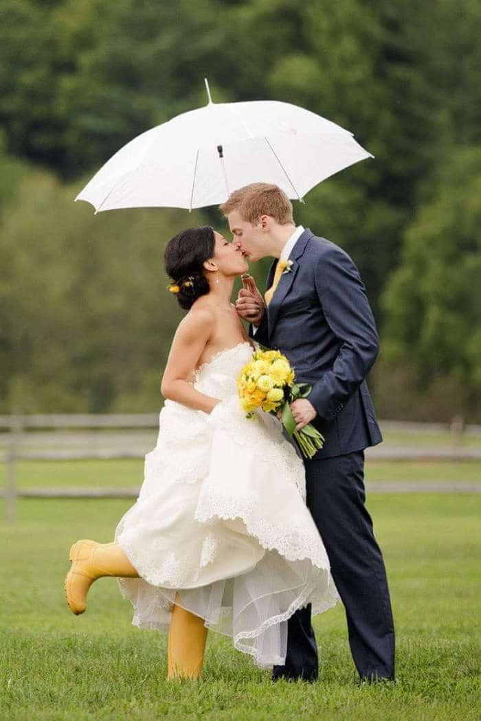 Cérémonie Mariage Laïque sous la pluie