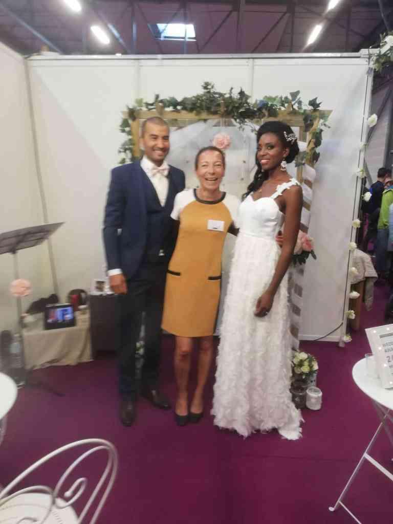 Magali et Paolo-Sarena Stand Unique Ceremonies Salon Mariage Poitiers 2018