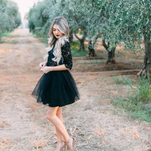 Black Mini Tulle Skirt