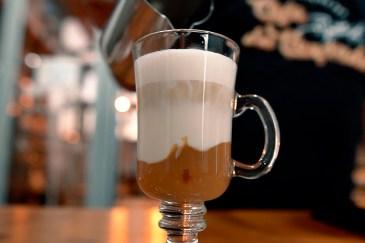Café filtrado para drink mocha