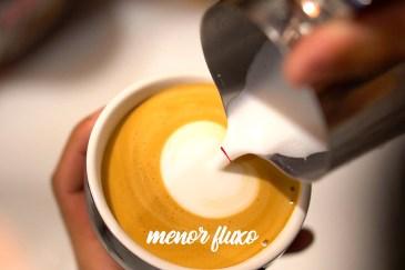 Menor fluxo de saída de leite para o latte art