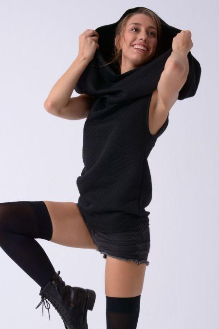 Aran - vestido corto - camiseta con capucha.