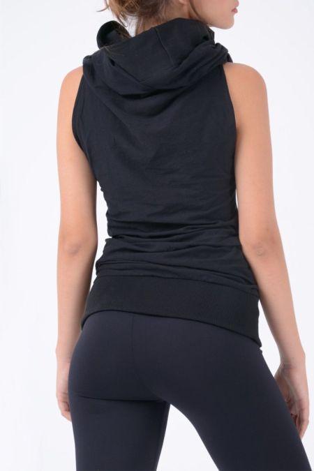 Vestido corto con capucha - camiseta