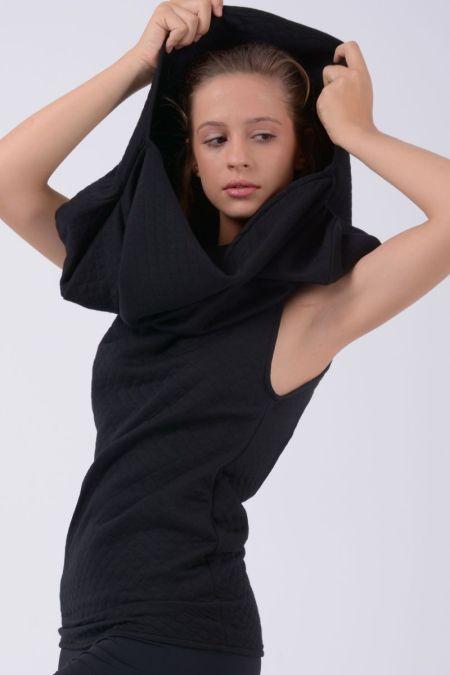 Vestido corto - Camiseta con capucha