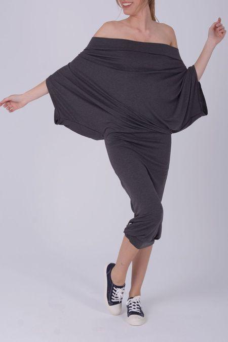 Alana - vestido largo palabra de honor o sudadera