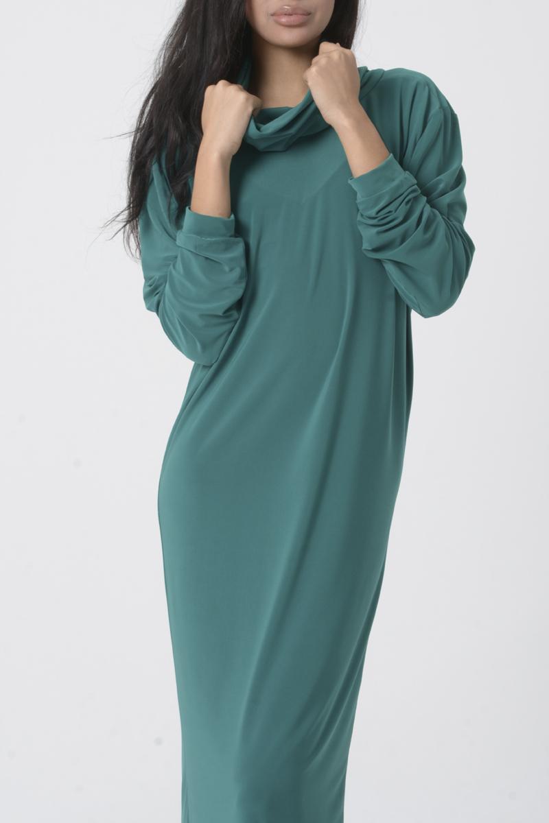 Alcina. Vestido largo mujer color verde azulado