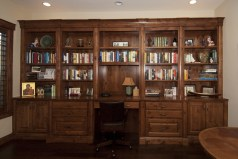 Rustic alder cabinetry, raised panel doors & drawer fronts