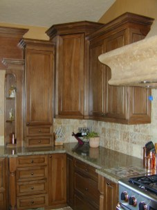 Pecan Cabinetry