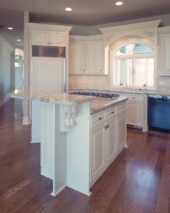 White Enamel Custom Kitchen