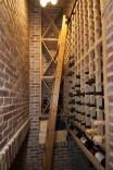 Narrow space wine cellar