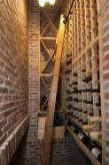 Narrow space wine cellar