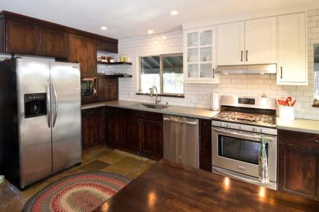 rustic alder kitchen