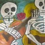 CC Attribution - peregrine blue - Dia de los Muertos Artwork by Alvaro Suman in Santa Barbara