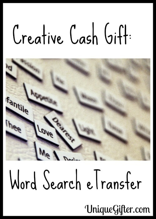 Creative Cash Gift Word Search eTransfer