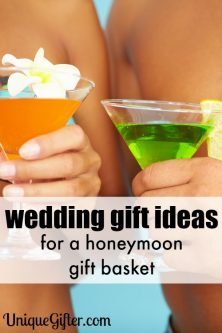 This is a super creative wedding gift - there are so many honeymoon gift basket ideas in here I can't pick.
