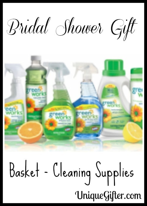Bridal Shower Gift Basket - Cleaning Supplies