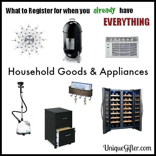 Wedding Registry Tips | Household Goods & Appliances | Wedding Registry Checklist for Grown Ups