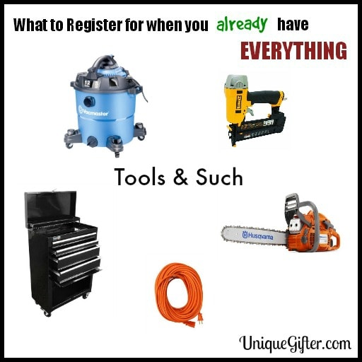 Wedding Registry Checklist & Tips | Wedding Gifts for Men | Tools & Outdoor Goods to Register For