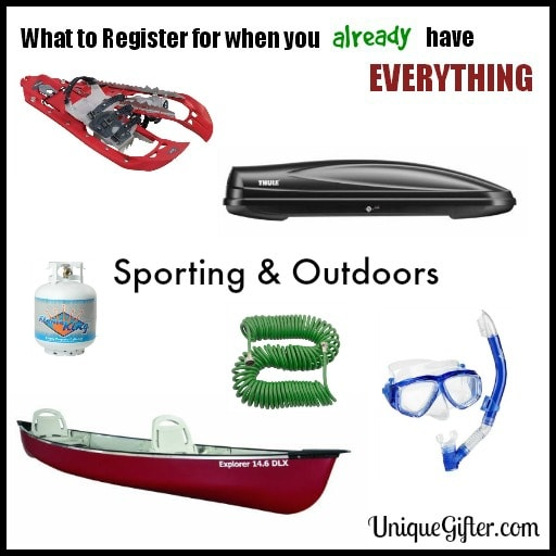 Fun things to put on a wedding registry list | Sports gear for outdoor enthusiast weddings