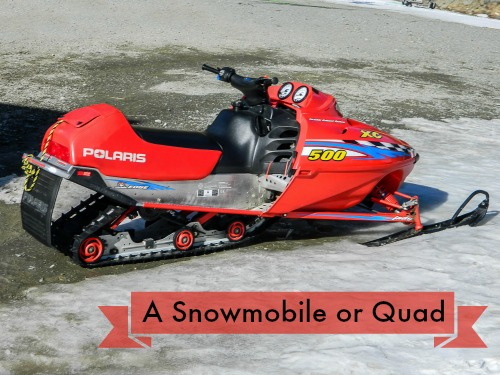 Expensive Wedding Gifts - A Snowmobile or Quad