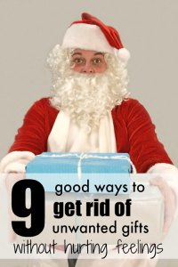 We just have so much STUFF after Christmas. These are good ways to get rid of unwanted Christmas gifts, I'll have to remember them later.