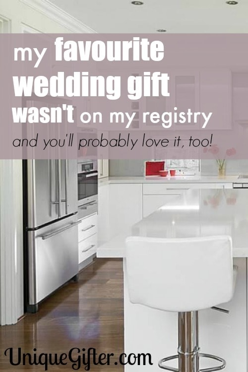 My favorite wedding gift wasn't on my registry, but it was so useful and so thoughtful! I bet you'll love it too. Anyone will love it and anyone can buy it!