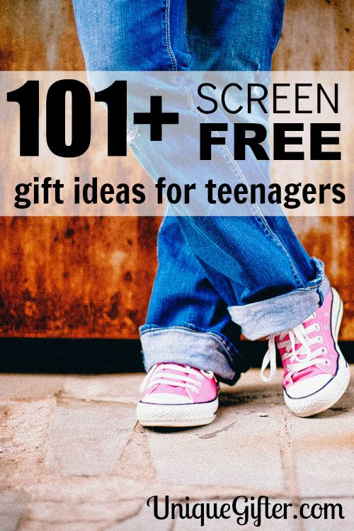 101 Screen Free Gifts for Teens - Finally some ideas that don't involve an iPad! I am using this for everybody this year!!