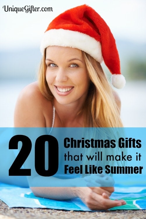 I get so sick of winter weather! These Christmas gifts that will make it summer are perfect for me.