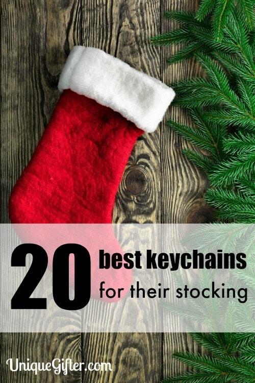 The cute defense cat is such a fantastic idea. Love this collection of the 20 best keychains for their stocking.