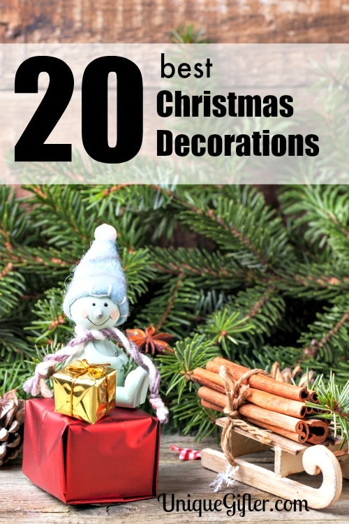 These are great Christmas decorations, especially number one, it's hilarious and adorable!