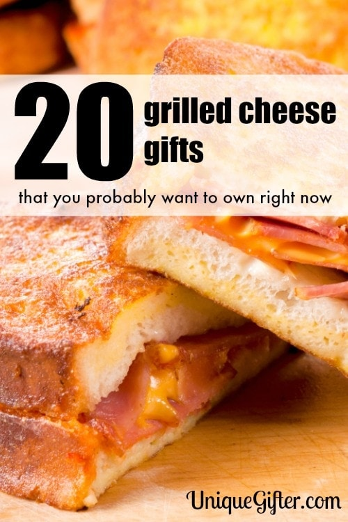 Delicious and gooey grilled cheese awesomeness. These will make rad birthday presents for guys and gals. Yummmm.