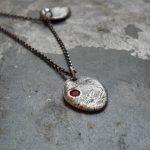 Baby fingerprint necklace unique push present